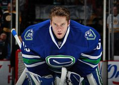 Jacob Markstrom #25 of the Vancouver Canucks