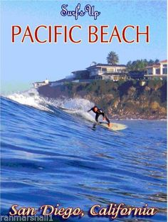 Pacific-Beach-San-Diego-California-United-States-Travel-Advertisement-Art-Poster
