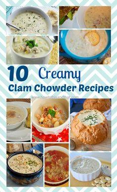 10 Creamy Clam Chowder Recipes