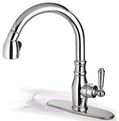 Pegasus Old Fashion Pull Down, Brushed Nickel (USPW591ANTLFHD) contemporary-kitchen-faucets
