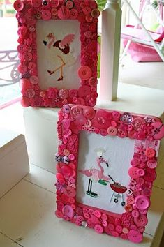 Button frames DIY.. GREAT IDEA