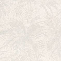 """""""A jungle inspired wallpaper, this lush leaf motif in light grey has a subtle silver glitter effect. Natural in appearance, this wallpaper will add a touch of class to any room."""
