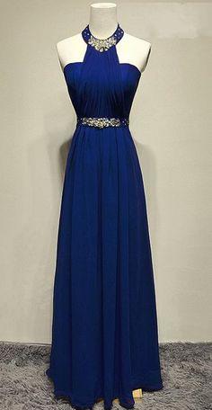 halter prom dress,long prom dress 2017,chiffon evening gowns,backless