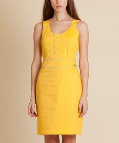Yellow Abrevadero Dress #zulily #zulilyfinds