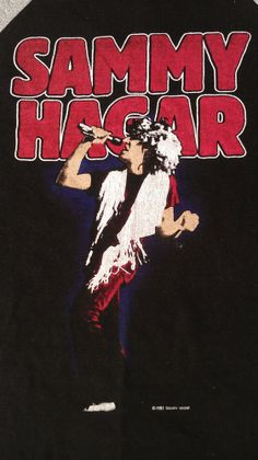 VINTAGE 1983 SAMMY HAGAR USA TOUR T SHIRT ROCK BAND CONCERT 80'S U.S.A