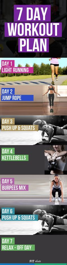 Lose 10 pounds in 2 weeks with this 7 day workout plan.
