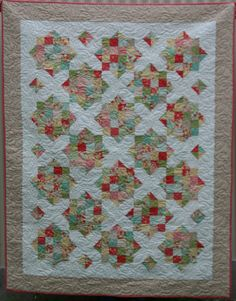 England Street Quilts: Briar Rose - A Finish and a Free Jelly Roll Pattern