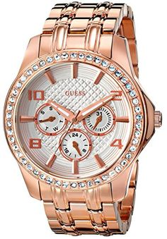 Women's Wrist Watches - GUESS Womens U0147L3 Polished Glamour Rose GoldTone Watch -- Click image for more details.
