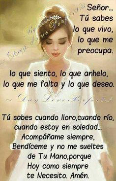 Spanish Inspirational Quotes, Spanish Quotes, Spiritual Quotes, Positive Quotes, Quotes About God, Love Quotes, Bible Quotes, Bible Verses, Spanish Prayers