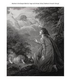 Abraham in the Bowyer Bible 94. Hagar and Ishmael. Artaud. Medhurst-Kossuth-Vere on Flickr.Abraham in the Bowyer Bible 94. Hagar and Ishmael. Artaud. Medhurst-Kossuth-Vere