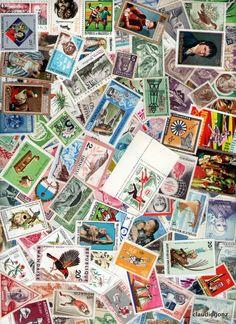 250 selos universais sem carimbo   (LoteB)
