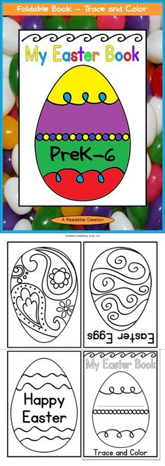 {Easter Freebie} ~  This book is full of delightful Easter eggs to trace and color. What a fun way for your students to practice the fine motor skills of folding, cutting, tracing, and coloring. The folding and cutting directions are included. (1 sheet = 4-page book)