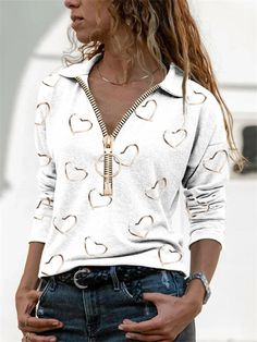Style Sportif, Basic Tops, Mode Outfits, Casual Tops, Casual Wear, Shirt Blouses, Tunic Blouse, Types Of Sleeves, Blouses For Women
