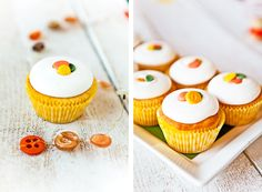 Button cupcakes / Tinywater Photography / Sugar and Spice Specialty Desserts / Botanica Floral Designs