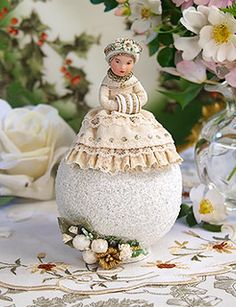 Christmas Shop: The Winter Princess, Victorian Candy Container Christmas Decoration on Blumchen.com