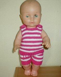 Dukketøj Baby Born strikket sommersæt