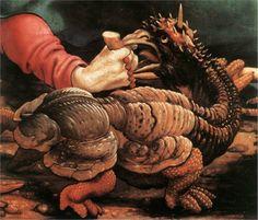 The Temptation of St. Anthony (detail) - Matthias Grünewald