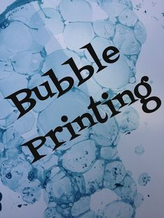 Simple Little Home: Bubble Printing