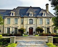 Country French Lakehouse Exterior View Traditional Architecture Design