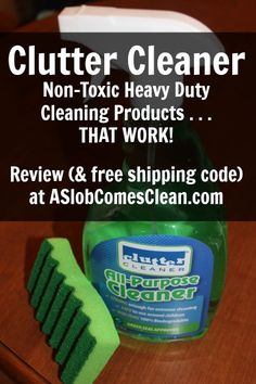 Review (and free shipping code) for Clutter Cleaner non-toxic heavy-duty cleaning products at ASlobComesClean.com