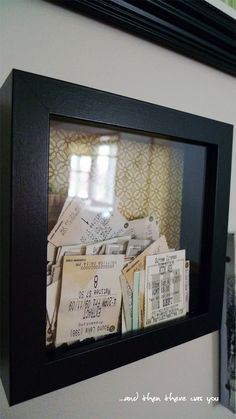 Ticket stub frame