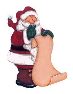Santa holding paper