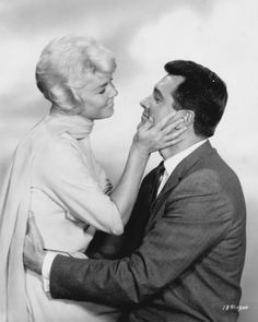 """Doris Day and Rock Hudson, promotion for """"Pillow Talk""""."""