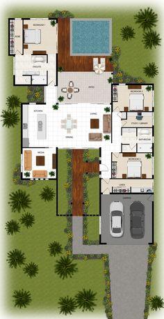 2D colour floor plan for a building company - Manunda QLD