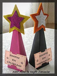 Diy Trophy, Trophy Craft, Graduation Crafts, Preschool Graduation, Kindergarten Activities, Preschool Activities, Diy Birthday, Birthday Cards, Kids Awards
