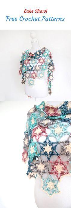 Lake Shawl Free Crochet Pattern