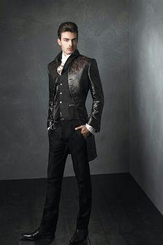 140 Elegant Men's Formal Wear with Tuxedo and Suits - Fashion Best Steampunk Fashion, Gothic Fashion, Mens Fashion Suits, Fashion Outfits, Mode Cyberpunk, Gothic Men, Elegant Man, Mode Style, Wedding Suits