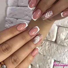 Deep french nails Side Braids in 2020 Pastel Pink Nails, Pink Nail Art, Purple Nails, Red Nails, Burgundy Nails, French Nails, French Manicure Nails, Oval Nails, Nail Nail