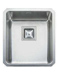 Rangemaster Atlantic Quad Kitchen Sink   Single Contemporary Undermount Sink  In Brush Finish.