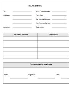 Proof Of Delivery Form Template Delivery Note Template 22 Free Word Pdf  Format Download Download  Delivery Slip Template