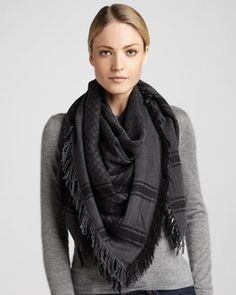 GG Pattern Shawl by Gucci at Neiman Marcus.