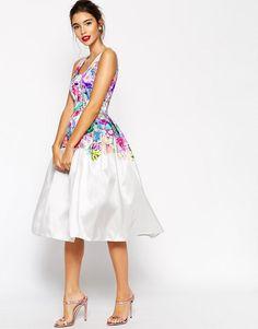 ASOS Beautiful Floral Super Full Prom Dress