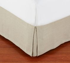 PB Basic Pleated Cotton Bed Skirt | Pottery Barn Cotton Bedding, Linen Bedding, Cotton Linen, Bedding Sets, Daybed Bedding, Bed Linens, Free Interior Design, Interior Design Services, Box Spring Cover
