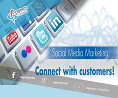 Our #socialmediamarketing includes getting the most important #socialmedia profiles setup for your business, making posts, and creating new content online. Social media marketing will help your small business connect with your target market, create word of mouth advertising online, and increase brand loyalty. For More details please visit us at www.digitechitsolutions.co.uk