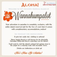 Awewahoo! Hawaiian Themed Date Night at Home