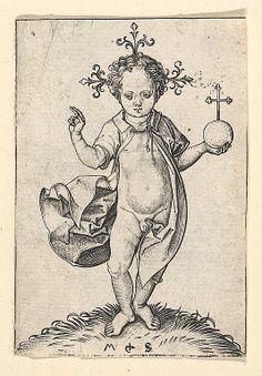 Martin Schongauer  (German, Colmar ca. 1435/50–1491 Breisach), The Christ Child with an Orb, 15th century. Engraving