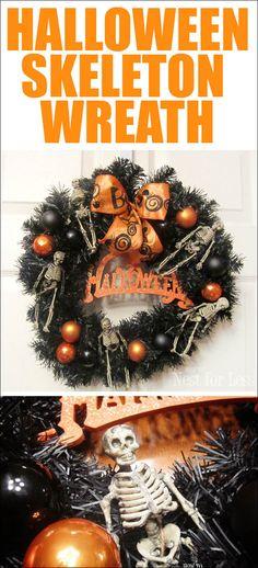 Spooktacular skeleton Halloween wreath!