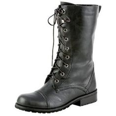 Black Combat Boots.... I got some of these for Christmas! They are so comfy and look great with leggings!