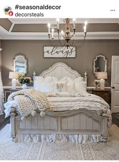 Shabby Chic Bedrooms, Home Decor Bedroom, Home Bedroom, Modern Farmhouse Decor, Bedroom Makeover, Farmhouse Bedroom Decor, Master Bedrooms Decor, Home Decor, Remodel Bedroom