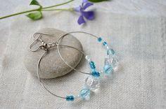 Hoop Earrings – Round earrings Dangle earrings – a unique product by MiracleFromThreads on DaWanda