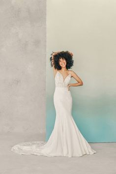 MJ751 by Allure Bridals shows off floral lace throughout the bodice and train Bridal Collection, Dress Collection, Girls Dresses, Flower Girl Dresses, Wedding Dress Sizes, Crepe Wedding Dress, Allure Couture, Bridal And Formal, Sophisticated Bride