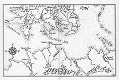 Pern Worldmap, copyright Anne McCaffrey