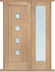 Siena Oak External Side Panel Door Set