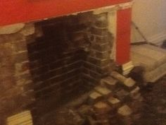 Digging out fireplace