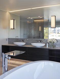 Private Villa - Designed by Norwegian Interior Architect firm Metropolis arkitektur & design - www.no bathroom luxury Villa Design, Double Vanity, Bathroom, Luxury, Interior, Projects, Home Decor, Bath Room, Log Projects