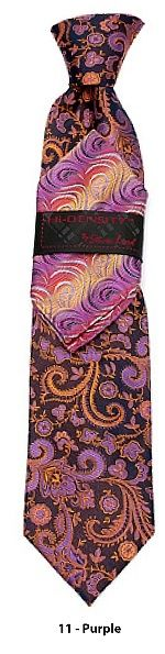 Steven Land Hi-Density Men's Hand Made 100% Silk Tie and Hanky - Unique Paisley Design | Product ID: HD50
